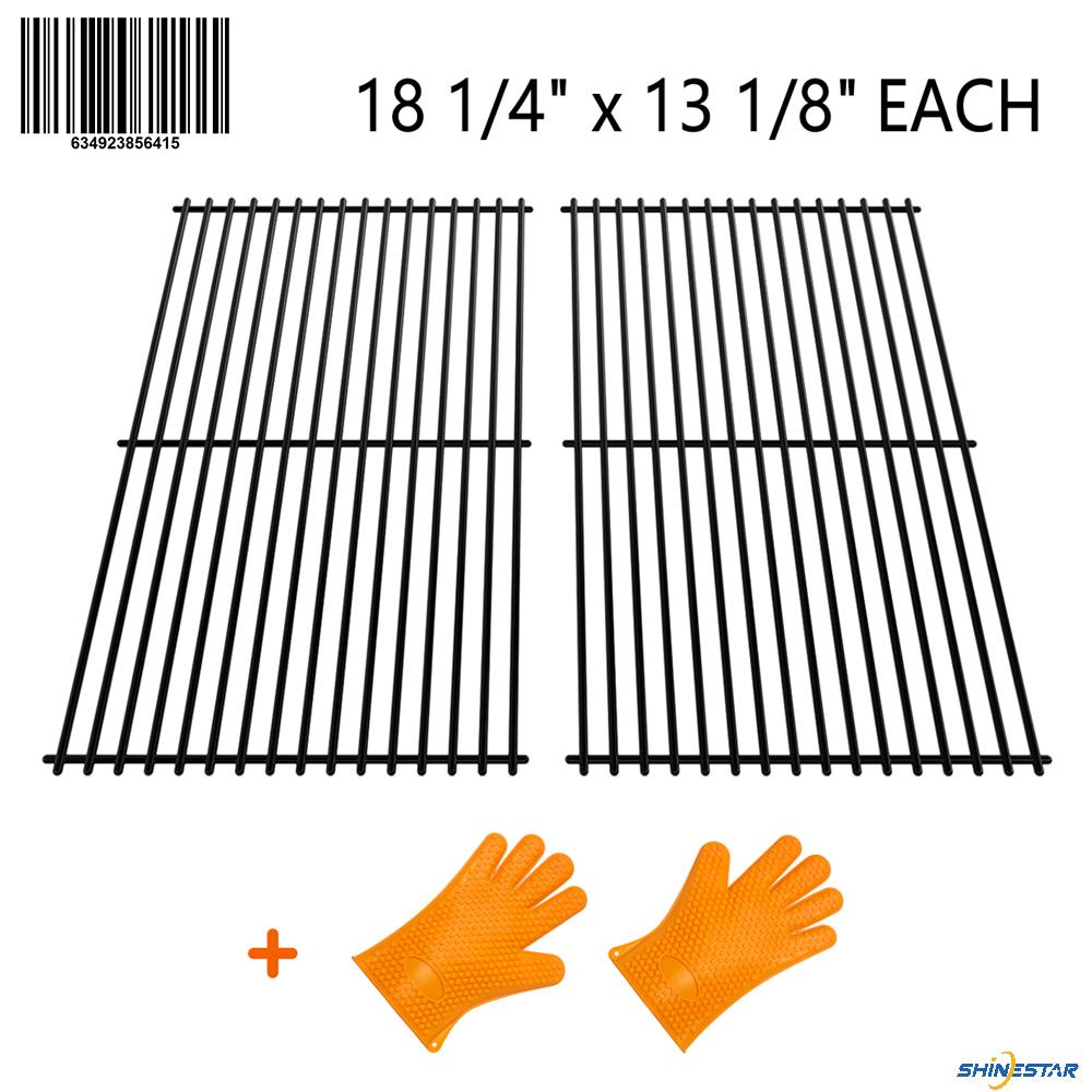 SHINESTAR Gas Grill Replacement Grates for Charbroil, Kenmore, Thermos and More, Part Number-Q66652