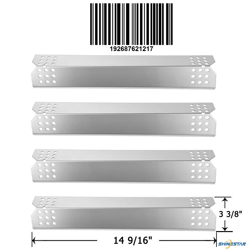 SHINESTAR Grill Replacement Parts for Grillmaster 720-0697, 720-0737, Nexgrill 720-0830H, 720-0783E, 7200697, 7200737, 14 9/16 inch Stainless Steel Heat Shield Plate Tent Flame Tamer 4 Packs(SS-HP003)